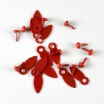 Набор брадсов&анкеры, цвет красный, анкеры 1,5 см, брадс 4,5 мм, в наборе 10 анкеров и 10 брадсов. DA000459