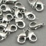 Застежка крючёк, размер 12х6 мм, цвет серебро, цена за 1 шт., DA000462