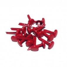 Брадс Красный, длина 12 мм., шляпка 8 мм, 10 шт., DA000477