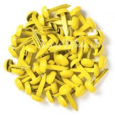 Брадс Жёлтый, длина 12 мм., шляпка 8 мм, 10 шт., DA000484