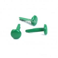 Брадс светло-Зелёный, длина 12 мм., шляпка 8 мм, 10 шт., DA000494