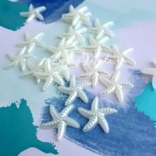 Пластиковая Морская Звезда, перламутровая, 20 мм., цена за 1 шт., DA000517