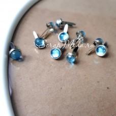 Брадс марблс Голубые, длина 13 мм., шляпка 6 мм, 10 шт., DA000551