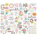Набор высечек Dreams big, в наборе 55 элементов, Simple Stories, DA000621