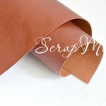 Переплётный кожзам матовый (экокожа), текстура:матовый,  рыжевато-коричневый, цена за отрез: 33х70 см, тонкий, толщина 1 мм. LI000022