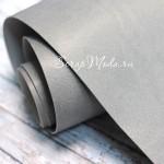 Переплётный кожзам матовый (экокожа), текстура:матовый, Серый, цена за отрез: 33х70 см, тонкий, толщина 1 мм. LI000006