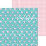 Бумага двусторонняя Love you, размер 30,5х32 см, 180 г/м, Арт Узор, DA000688
