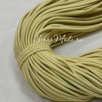 Резинка, цвет:песочный, круглая, диаметр 2 мм., цена за 1 метр, DA000708