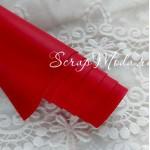 Переплётный кожзам матовый (экокожа), текстура:матовый, красный, цена за отрез: 33х70 см, тонкий, толщина 1 мм. LI000009