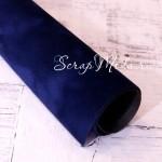 Переплётный материал на бумажной основе Бархат, цвет королевский синий, размер 15х33см, DA000753