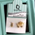 Декоративный элемент для шейкера Бант, 5шт, цвет:золото, размер 9х5 мм, DA000775