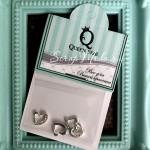 Декоративный элемент для шейкера Сердечко, 4шт, цвет:серебро, размер 8х8 мм, DA000777