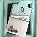 Декоративный элемент для шейкера Сердце, 5шт, цвет:серебро, размер 8мм, DA000778