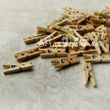Прищепочки Mini деревянные 32, Натуральные, 25х0,8 мм., цена за 1 шт.