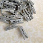 Прищепочка Mini деревянная, цвет:серебро, размер 25х8 мм., цена за 1 шт., DE000056