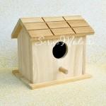 Скворечник 3D, деревянный № 1, размер 110x125 мм., толщина 100мм., цена за 1 шт., DE000094