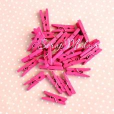 Прищепочки Mini деревянные, малиновые, 25х0,8 мм., цена за 1 шт., DE000102