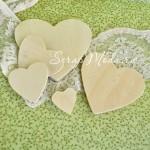 Набор деревянных сердечек, размер от 28 до 90 мм., 5 шт., DE000104