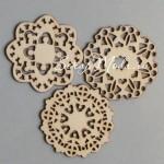 Набор деревянного чипборда Granny's Mini Wood. 6 шт., размер 60 мм., толщина 2 мм., Maya Road, DE000111