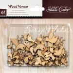 Набор деревянного чипборда Птички, 61 шт., Sudio Calico, DE000128