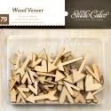 Набор деревянного чипборда Стрелочки сердечки, 79 шт., Sudio Calico, DE000129