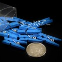 Прищепочки Mini деревянные, синие, 25х0,8 мм., цена за 1 шт., DE000130