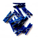 Прищепочки Mini деревянные, темно-синие, 25х0,8 мм., цена за 1 шт., DE000131