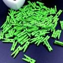 Прищепочки Mini деревянные, зелёные, 25х0,8 мм., цена за 1 шт., DE000135