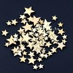 Деревянные Звездочки, размер от 8 мм. до 20 мм., в наборе 50 шт., DE000138