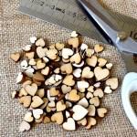 Деревянные Сердечки, размер от 6 мм. до 18 мм., в наборе 50 шт., DE000139
