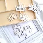Деревянное украшение-Корона, размер 40х28 мм., цена за 1 шт.,  Prima Marketing. DE000141