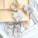 Деревянное украшение-Цветок, размер 40х35 мм., цена за 1 шт., Prima Marketing. DE000142