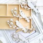 Деревянное украшение-Птичка на веточке, размер 75х35 мм., цена за 1 шт.,  Prima Marketing. DE000143
