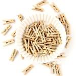 Прищепочки деревянные, Натуральные, 45х9 мм., цена за 1 шт. , DE000148
