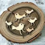 Набор деревянного чипборда Птички, 6 шт., Sudio Calico, DE000152