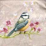 Салфетка бумажная 3-х слойная, птичка на веточке, размер 33х33 см., цена за 1 шт. DK000018