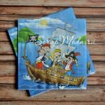 Салфетка бумажная пираты, размер 33х33 см., цена за 1 шт. DK000022