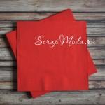 Салфетка Красная бумажная 3-х слойная, размер 33х33 см., цена за 1 шт. DK000029
