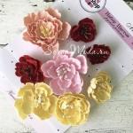 """Набор цветов из коллекции """"Магнолия"""", 8 шт., размер от 2 см и 6 см, Ручная работа. GA000007"""
