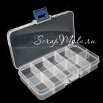 Пластиковая бокс для хранение 40, прозрачный, размер 130х70 мм., высота 22 мм.