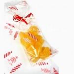 Пакетик для упаковки сладостей прозрачный с принтом Конфетки, полиэтилен, размер 46х16х4 см., цена за 1 шт., HR000044