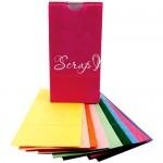 Набор Бумажных цветных пакетов, 108х205х60 мм., 10 шт., HR000046