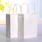 Бумажный Белый пакет с крученой ручкой, размер 240х140х280 мм., цена за 1 шт., HR000110