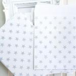 Пакет конверт, Звездочки, белый фон серые звездочки, размер 13х16см, HR000090