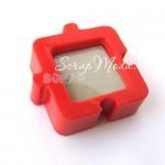Рамочка Пазл, красная, 70х70 мм, пластик