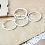 Кольцо, Белое, 30 мм., 1 шт., Kaiser Craft