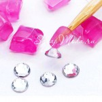 Держатель для страз гелиевый, розовый,  16 мм., IN000212