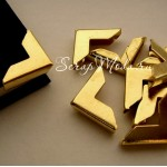 Металлический Уголок для альбома, золото, 16х16 мм., глубина 3 мм.,  цена за 1 шт.,  IN000847