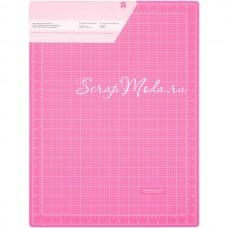 Розовый коврик, двусторонний, самовосстанавливающийся, размер 45х60 см., American Crafts, IN000355