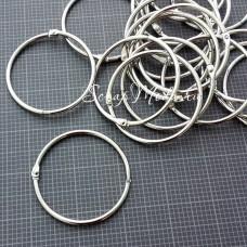Кольцо разъемное металлическое, размер 5 см., цена за 1 шт., IN000406